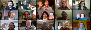 Inver Hills Faculty and Staff in an Online Meeting
